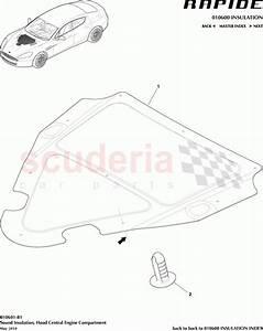 Aston Martin Rapide Sound Insulation  Hood Central Engine