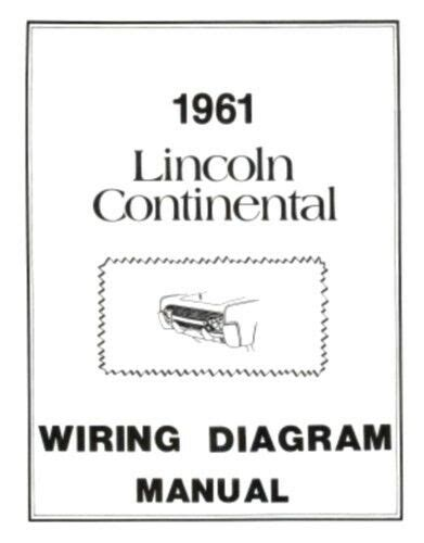 Lincoln Continental Wiring Diagram Manual Ebay