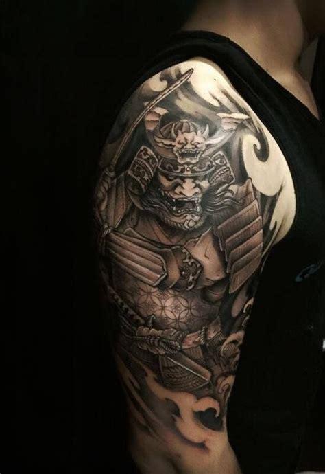 chronic ink tattoo toronto tattoo samurai warrior tattoo   louisa asian black