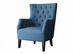 Canapé Bleu Roi : fauteuil scandinave tissu duchesse bleu roi vente de habitat et jardin conforama ~ Teatrodelosmanantiales.com Idées de Décoration