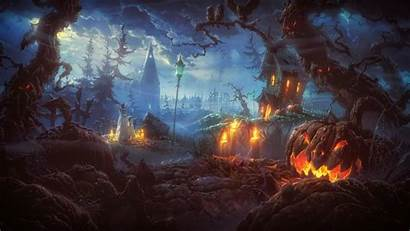 Halloween Photoshop Night Backgrounds Terror Wallpapers Scary