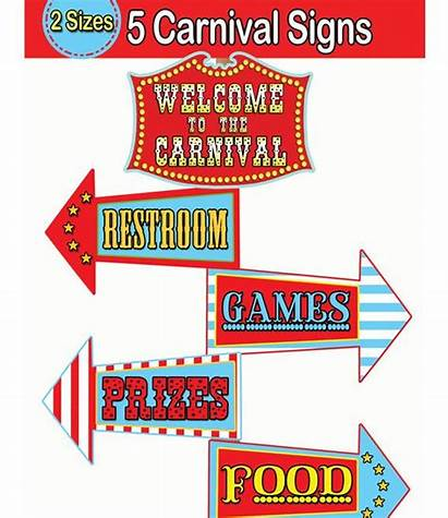 Carnival Party Signs Circus Sign Clipart Arrow