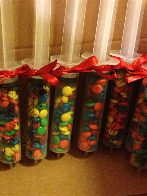 christmas gifts for doctors offices m m filled syringes doctors day luncheon favors