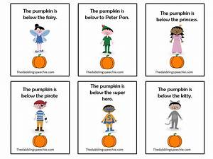 Where is the pumpkin? Halloween Themed Preposition fun
