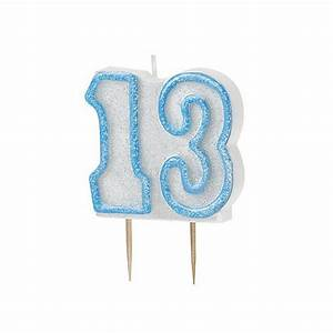 Blue Glitz Number 13 Candle 13th Birthday Cake Candles ...