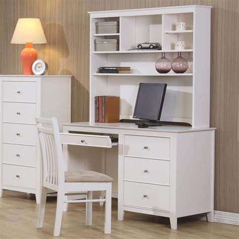 white computer desk hutch page title
