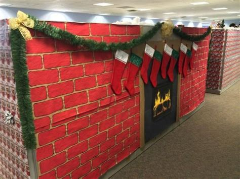 christmas cubicle decorations ideas  pinterest
