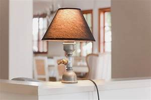 Unique Table Lamp with Iron Pipes Base – Mona Lamp