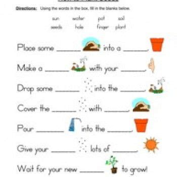 plants and animals worksheets for grade 1 seeds plants worksheet fill in the blanks gg