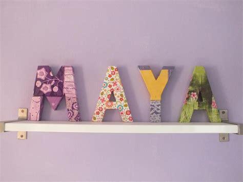 création décoration chambre enfant lettres alphabet en