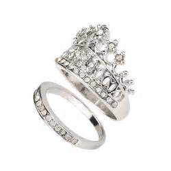 wedding ring sets his and hers aliexpress buy crown wedding rings for silver plated fashion 2015 his and hers