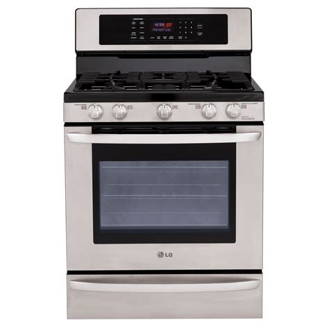 lg lrg3095st 5 4 cu ft freestanding gas range stainless steel sears outlet