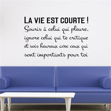 sticker citation la vie est courte stickers stickers