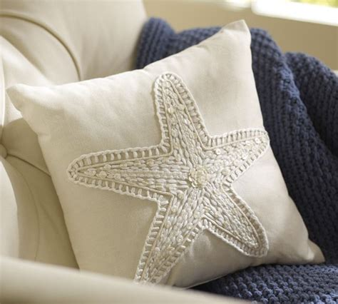 starfish pillow tropical decorative pillows by pottery barn