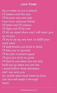 love vows wedding vows wedding and weddings With love poems for wedding ceremony