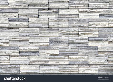 Grey Stone Tile Texture Brick Wall Stock Photo 127940807