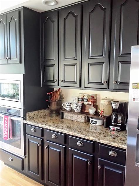 black painted kitchen cabinet ideas black kitchen cabinets makeover reveal hometalk