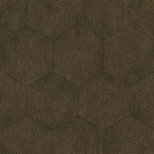 Designer Kids Wallpaper Curio Mineral Charcoal And Bronze Hexagon Wallpaper By