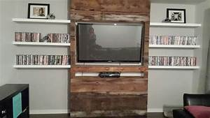 Mur Tv Bois : meuble mur bois de grange d cor pinterest ~ Teatrodelosmanantiales.com Idées de Décoration