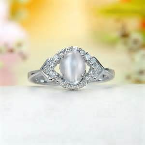 cubic zirconia engagement ring moonstone rings for