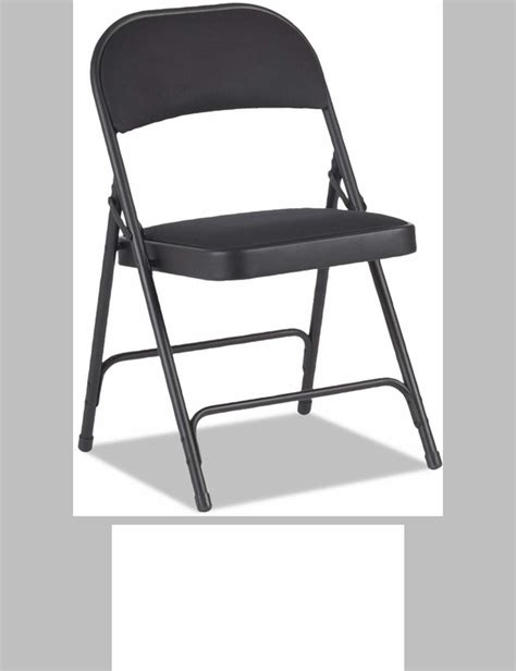 alera 174 traditional steel folding chair with padded vinyl