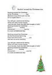 English Worksheets Rockin´ Around The Christmas Tree