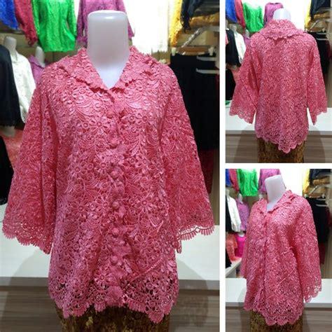 Atasan Kebaya Mata Batu jual kebaya brokat baju atasan wanita brukat lace ra85581