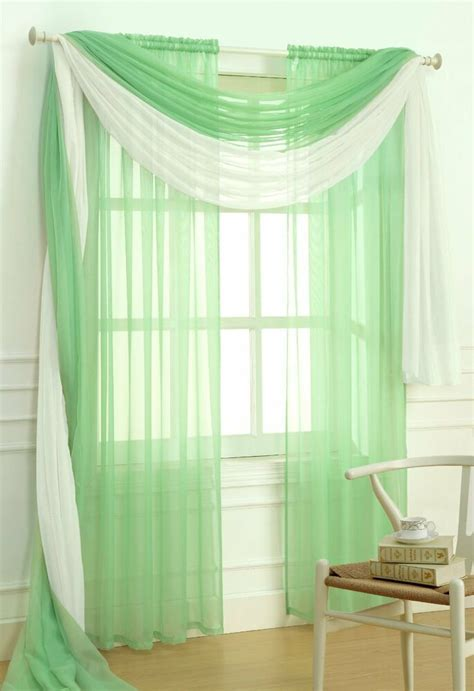 Sheer Window Treatments by Sheer Voile 2 Jade Green Curtain Panel Solid Window
