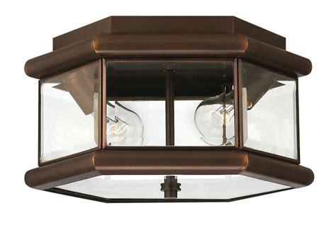 outdoor flush mount ceiling light fixtures hinkley lighting 2429cb copper bronze 2 light outdoor