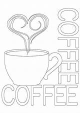 Coloring Kaffee Lover ähnliche sketch template