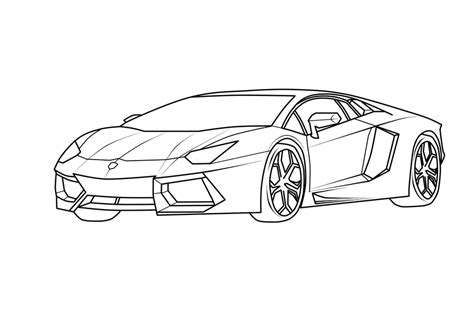 Auto Kleurplaat Lamborghini by Lamborghini Coloring Pages To Print Coloring Home