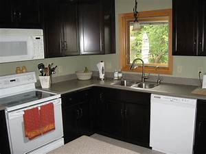 small l shaped kitchen like yours with dark cabinets and With small l shaped kitchen designs