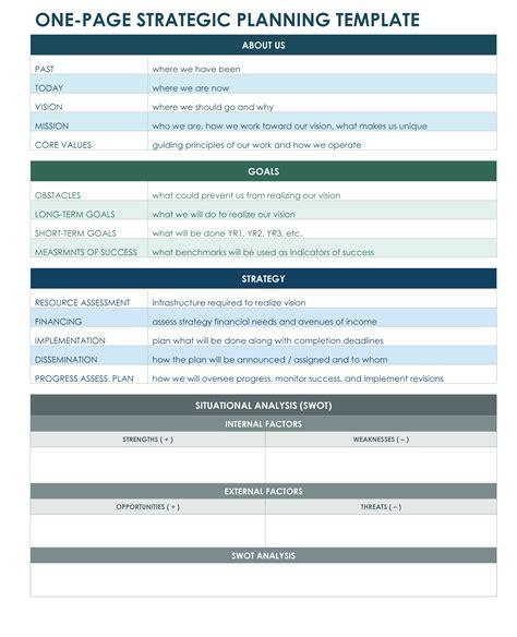 Strategic Planning Template 9 Free Strategic Planning Templates Smartsheet