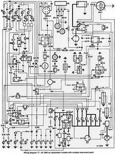 Wiring Diagram Of 1984 Onwards All Mini Series With Multiple Instrument Pack  61151