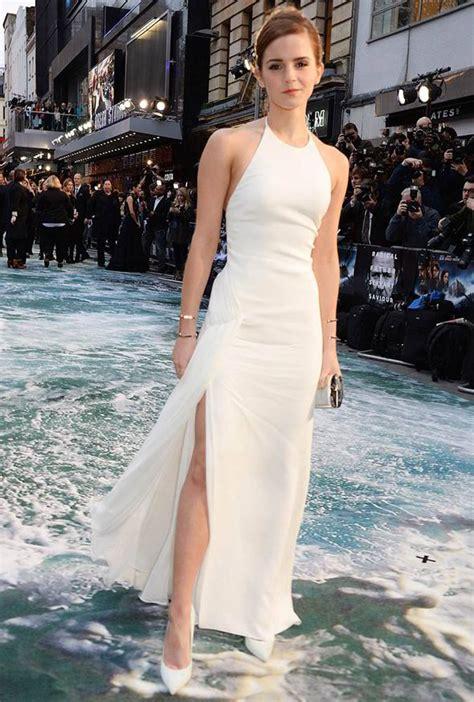 Emma Watson Pulls Angelina Jolie Thigh High Dress