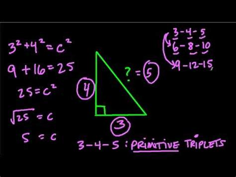 Meaning of triplet in music. Pythagorean Triplets - An Introduction - YouTube