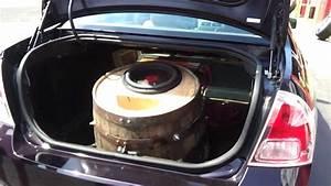 Worlds Loudest Wine Barrel Subwoofer  Dd Audio Bass Tasting Demo At Wheel Kings