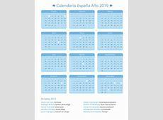 Calendario España Año 2019 Feriados