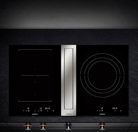 gaggenau induction cooktops  downdraft ventilation comparison