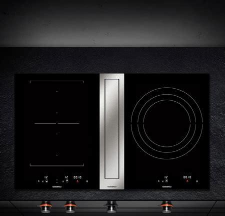 gaggenau induction cooktops  downdraft ventilation