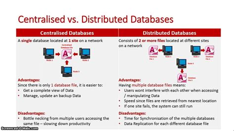 centralised  distributed databases youtube