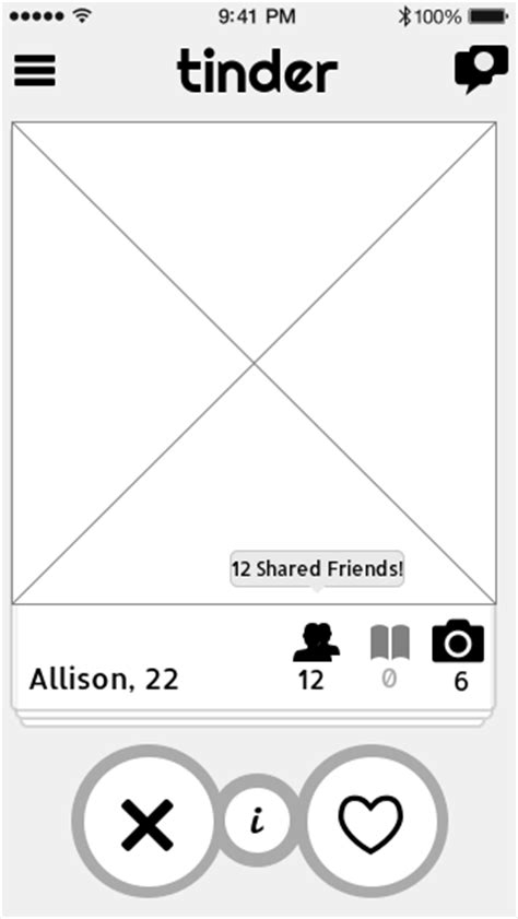 tinder profile template a practical look at using wireframes