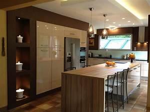 cuisine avec ilot central cuisines pinterest cuisine With cuisine avec ilots central