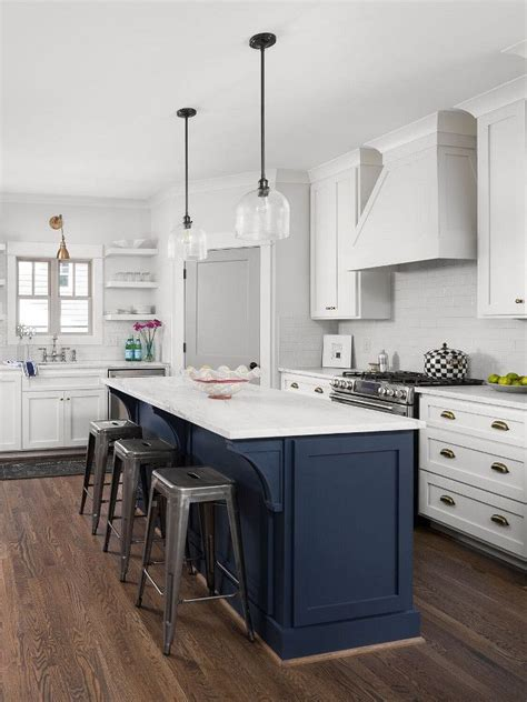 navy kitchen island paint color navy seawall sherwin