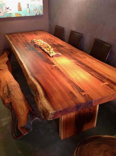 edge dining table sequoia santa fe woodworking