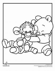 Disney Babies Coloring Pages Pooh and Tigger Disney Babies ...