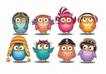 Owls Cartoon Clipart Owl Eulen Drawing Clip