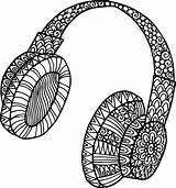 Coloring Headphones Doodle Headphone Adult Doodles Printable Colouring Kidspressmagazine Guitar Sheets Mandala Clipart Drawing Earphones Adults Musical Teens Drawings Template sketch template