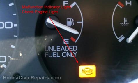 Malfunction Indicator L Honda Accord by Replacing The Oxygen Sensor Honda Civic