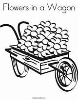 Coloring Joy Wagon Daisies Spread Wheel Flowers Wheelbarrow Clip Train Covered Drawing Barrel Cartoon Clipart Twistynoodle Noodle Twisty Thank Daisy sketch template